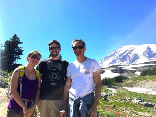 Mt Rainier and Rose Medium